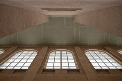 Cathedral Ceiling with Windows Royalty Free Stock Photos