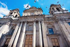 Cathedral in the center of Guatemala City Royalty Free Stock Photos