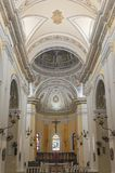 Cathedral Central Nave and Apse in San Juan royalty free stock images