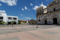 Cathedral on the central square of Leon Royalty Free Stock Photography