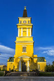 Cathedral  in the centre of Oulu, Finland. Royalty Free Stock Photo