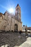 Cathedral in the centre of Trogir - Editorial Royalty Free Stock Photos