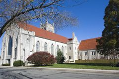 Cathedral in Champaign. Illinois, USA stock photo