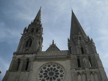 The cathedral of Chartres stock photography