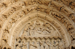 Cathedral of Chartres, statues on the porch Royalty Free Stock Photos
