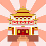 Cathedral chinese church temple traditional building landmark tourism vector illustration Royalty Free Stock Photos