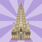 Cathedral chinese church temple traditional building landmark tourism vector illustration Royalty Free Stock Photo
