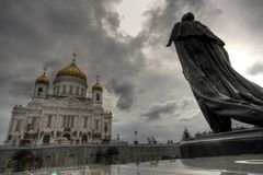 Cathedral of Christ the Redeemer, Moscow Stock Image