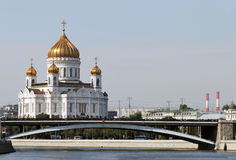 The Cathedral of Christ the Savior. Moscow, Russia Royalty Free Stock Photography
