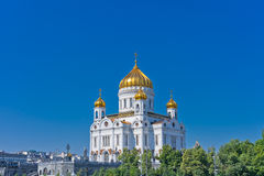 Cathedral of Christ the Savior. In Moscow, Russia, East Europe royalty free stock images