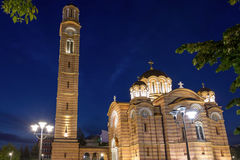 The Cathedral of Christ the Savior in Banja Luka. In Serbia Royalty Free Stock Photos