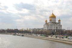 The Cathedral of Christ the Savior in city Moscow. The Cathedral of Christ the Savior Cathedral of the Russian Orthodox Church, located in Moscow on Volkhonka stock photography