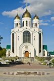 Cathedral of Christ the Savior. Kaliningrad (until 1946 Koenigsberg), Russia. Cathedral of Christ the Savior on the Victory square - the main Orthodox temple of royalty free stock images