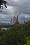 The Cathedral of Christ the Savior and the Kremlin Stock Photos