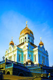 Cathedral of Christ the Savior and lampposts. Moscow, Russia Royalty Free Stock Image