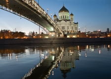 The cathedral of christ the savior. moscow. Royalty Free Stock Photos