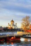 The Cathedral of Christ the Savior in Moscow Royalty Free Stock Images