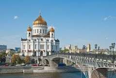 Cathedral of Christ the Savior, Moscow Royalty Free Stock Images