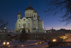 Cathedral of Christ the Savior. Moscow Stock Photos