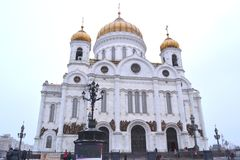 Cathedral of Christ the Savior. In Moscow Royalty Free Stock Image