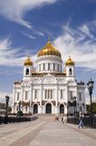 Cathedral of Christ the Savior in Moscow Stock Images