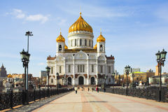 Cathedral of Christ the Savior in Moscow Royalty Free Stock Photo