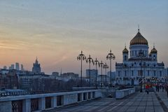 Cathedral of Christ the Savior. Moscow Cathedral of Christ the Savior Royalty Free Stock Photo