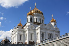 Russian Cathedral. The Cathedral of Christ the Savior in Moscow stock images