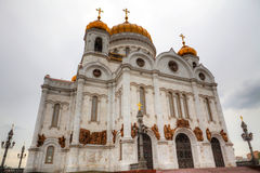 Cathedral of Christ the Savior in Moscow, Russia Stock Image