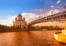 Cathedral of Christ the Savior - Moscow Russia Royalty Free Stock Photo
