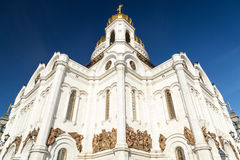 Cathedral of Christ the Savior in Moscow Russia Stock Photos
