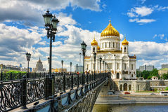 Cathedral of Christ the Savior in Moscow, Russia. Royalty Free Stock Image