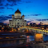 Cathedral of Christ the Savior, Moscow, Russia and Stock Image