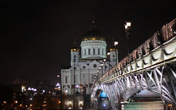The cathedral of Christ the Savior in Moscow. Russia. 20 march 2014 Royalty Free Stock Photo