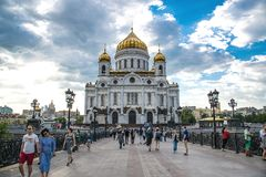 The Cathedral of Christ the Savior in Moscow, Russia - May 13, 2. 018 Stock Photo