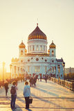 Cathedral of Christ the Savior in Moscow Stock Photography