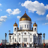 Cathedral of Christ the Savior in Moscow, Russia Royalty Free Stock Photos