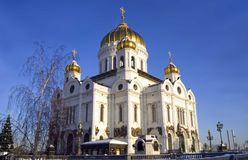 Cathedral   christ  savior moscow russia orthodox architecture Royalty Free Stock Photos