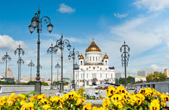 The Cathedral of Christ the Savior in Moscow, Russia Royalty Free Stock Photography