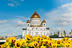The Cathedral of Christ the Savior in Moscow, Russia Stock Photos