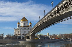 The Cathedral of Christ the Savior in Moscow, Russia Royalty Free Stock Image