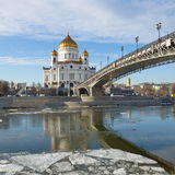 The Cathedral of Christ the Savior in Moscow, Russia Royalty Free Stock Photo