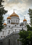The Cathedral of Christ the Savior in Moscow Stock Photo
