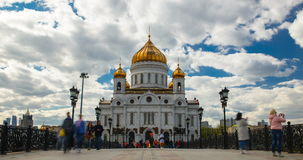 Cathedral of Christ the Savior in Moscow stock video footage