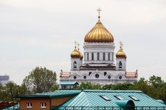 The Cathedral of Christ the Savior, Moscow. View to Crist the Savior cathedral in Moscow center Royalty Free Stock Image