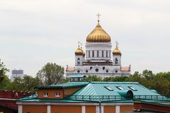 The Cathedral of Christ the Savior, Moscow. View to Crist the Savior cathedral in Moscow center Royalty Free Stock Photo