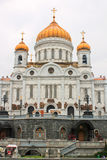 The Cathedral of Christ the Savior. Orthodox Church in Moscow, Russia Stock Photos