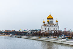 Cathedral of Christ the Savior and Patriarch Bridge Stock Photo