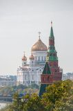 The Cathedral of Christ the Savior and Patriarchal Stock Image