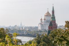 The Cathedral of Christ the Savior and Patriarchal Stock Photos